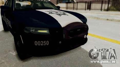 Dodge Charger RT 2016 Federal Police pour GTA San Andreas vue de dessus