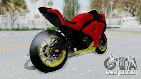Kawasaki Ninja 250FI Anak Jalanan pour GTA San Andreas laissé vue