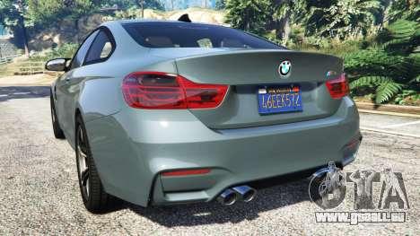 GTA 5 BMW M4 GTS arrière vue latérale gauche