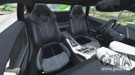 GTA 5 Lamborghini Huracan LP 610-4 2016 droite vue latérale