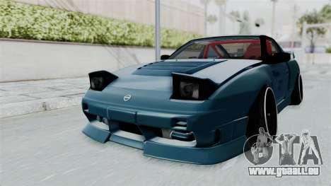 Nissan 180SX BETA pour GTA San Andreas sur la vue arrière gauche