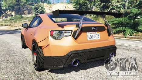 GTA 5 Subaru BRZ Rocket Bunny hinten links Seitenansicht