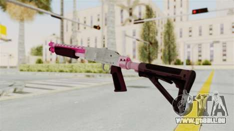 GTA 5 Pump Shotgun Pink für GTA San Andreas zweiten Screenshot