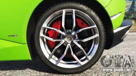 GTA 5 Lamborghini Huracan LP 610-4 2016 volant