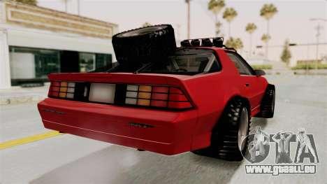 Chevrolet Camaro 1990 IROC-Z Rusty Rebel für GTA San Andreas linke Ansicht