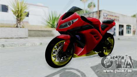 Kawasaki Ninja 250FI Anak Jalanan pour GTA San Andreas vue de droite