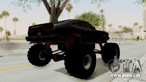 Ford Mustang King Cobra 1978 Monster Truck für GTA San Andreas zurück linke Ansicht