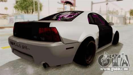 Ford Mustang 1999 Drift für GTA San Andreas zurück linke Ansicht