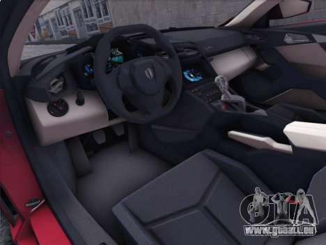 W Motors Lykan Hypersport 2015 HQ für GTA San Andreas rechten Ansicht
