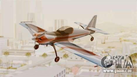 Zlin Z-50 LS v4 für GTA San Andreas zurück linke Ansicht
