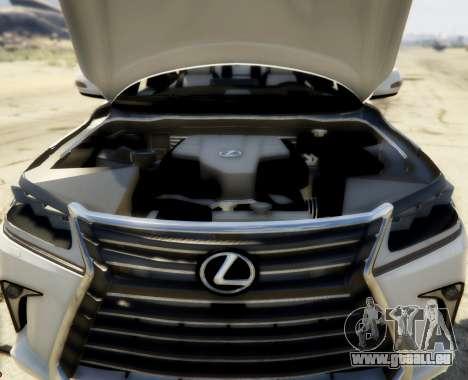 GTA 5 2016 Lexus LX 570 hinten rechts