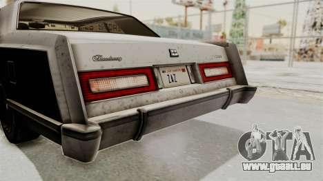 GTA 5 Dundreary Virgo IVF pour GTA San Andreas vue de côté
