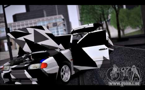 VAZ 2114 Triangle pour GTA San Andreas vue de dessus