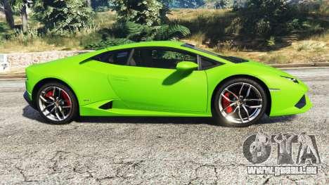 GTA 5 Lamborghini Huracan LP 610-4 2016 linke Seitenansicht