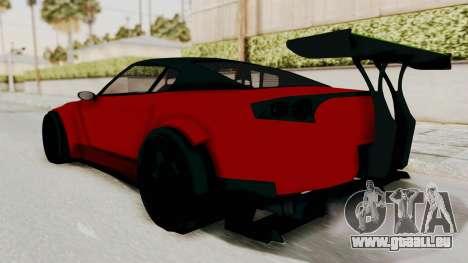 GTA 5 Annis Elegy Twinturbo No Spec pour GTA San Andreas sur la vue arrière gauche