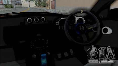 Nissan 350Z V6 Power pour GTA San Andreas vue intérieure