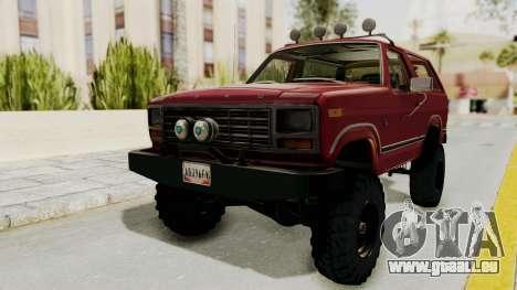 Ford Bronco 1985 Lifted für GTA San Andreas rechten Ansicht