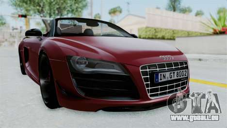 Audi R8 Spyder 2014 LB Work pour GTA San Andreas