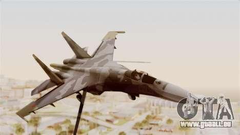 SU-27 Hydra pour GTA San Andreas sur la vue arrière gauche