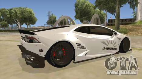 Lamborghini Huracan Liberty Walk für GTA San Andreas rechten Ansicht