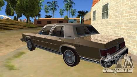 Mercury Grand Marquis 1986 v1.0 pour GTA San Andreas sur la vue arrière gauche