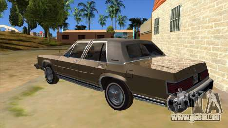 Mercury Grand Marquis 1986 v1.0 für GTA San Andreas zurück linke Ansicht