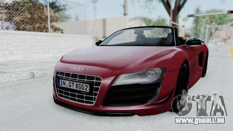 Audi R8 Spyder 2014 LB Work für GTA San Andreas zurück linke Ansicht