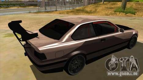 BMW M3 Drift Missile pour GTA San Andreas vue de droite
