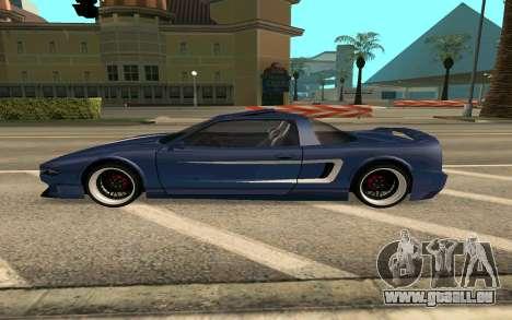 Infernus BlueRay V12 pour GTA San Andreas laissé vue