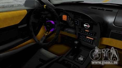 Chevrolet Corvette C4 Drift pour GTA San Andreas vue intérieure