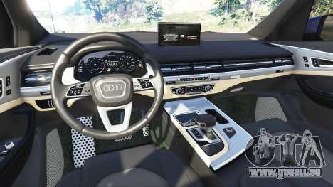GTA 5 Audi Q7 2015 [rims2] arrière droit vue de côté