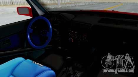 BMW M3 E30 Rocket Bunny Drift Style pour GTA San Andreas vue intérieure