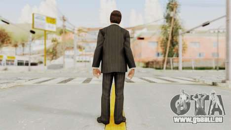 Scarface Tony Montana Suit v2 with Glasses pour GTA San Andreas troisième écran
