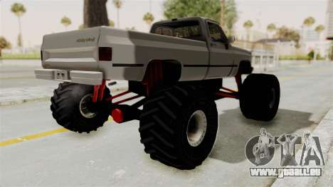 Chevrolet Silverado Classic 1985 Monster Truck für GTA San Andreas zurück linke Ansicht