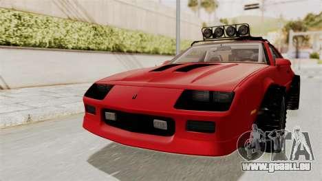 Chevrolet Camaro 1990 IROC-Z Rusty Rebel für GTA San Andreas rechten Ansicht