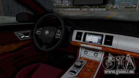 Jaguar XJ 2010 pour GTA San Andreas vue intérieure