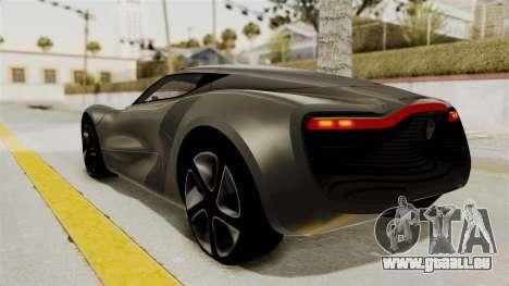 Renault Dezir Concept für GTA San Andreas rechten Ansicht