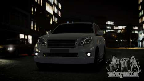 Toyota Land Crusier Prado 150 pour GTA 4 Vue arrière