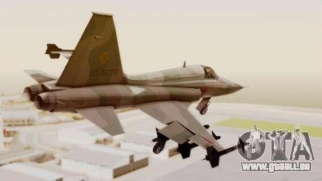 Northrop F-5E Tiger II JASDF pour GTA San Andreas laissé vue
