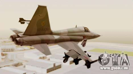 Northrop F-5E Tiger II JASDF für GTA San Andreas linke Ansicht