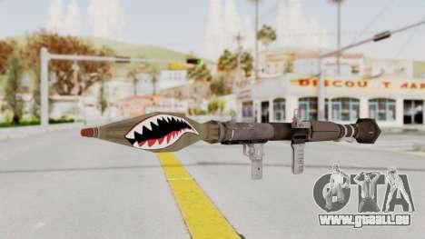 GTA 5 Rocket Launcher Shark mouth pour GTA San Andreas deuxième écran