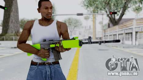 IOFB INSAS Light Green pour GTA San Andreas troisième écran