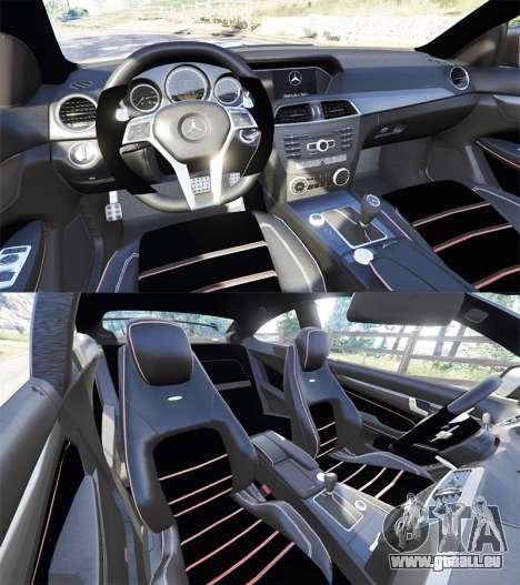 GTA 5 Mercedes-Benz C63 Coupe hinten rechts