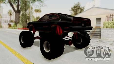 Ford Mustang King Cobra 1978 Monster Truck pour GTA San Andreas laissé vue