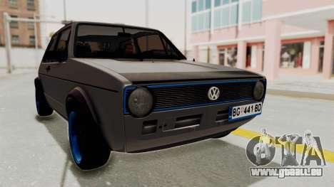 Volkswagen Golf 1 pour GTA San Andreas vue de droite