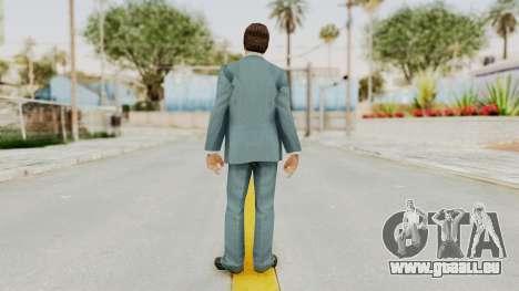 Scarface Tony Montana Suit v3 with Glasses pour GTA San Andreas troisième écran
