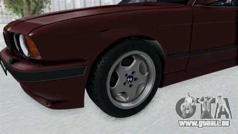 BMW 525i E34 1994 LT Plate pour GTA San Andreas vue arrière