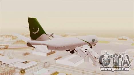Boeing 747-200 Pakistan International für GTA San Andreas linke Ansicht