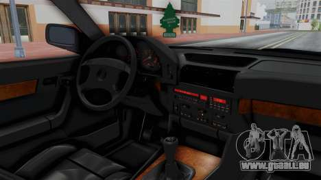 BMW 525i E34 1994 SA Plate für GTA San Andreas Innenansicht