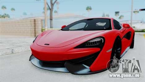 McLaren 570S 2016 für GTA San Andreas zurück linke Ansicht